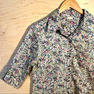 MUDD Floral Girl's Button Up, Short Sleeve